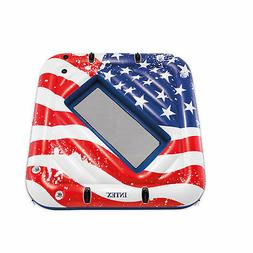 Intex 57264VM Inflatable American Flag 2 Person Party Island