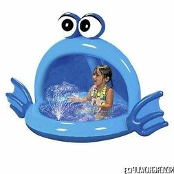 BANZAI INFLATABLE BLUE PLAYFUL PUFFER FISH SPRAY POOL WITH C