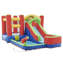 Water Slide Park Inflatable Bouncing House Water Cannon Air