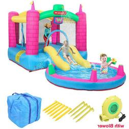 Inflatable Bounce House 2 Play Area Kids Jump Castle Water S
