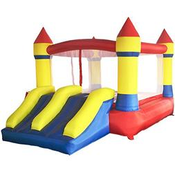 ART TO REAL Inflatable Bounce House with Dual Slides - Indoo