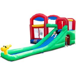 Costzon Inflatable Bounce House, Water Slide Jumping Area Mo