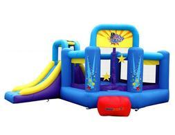 Bounceland Inflatable Bounce House Pop Star Bouncer with sli