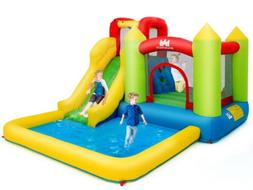 Inflatable Bounce House Water Slide Jump Bouncer w/Climbing