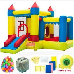 Inflatable Bounce House Castle Kids Jumper Slide Bouncer wit