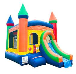 Inflatable Bounce House and Wet / Dry Slide, 12-Foot by 12-F