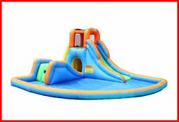 Bounceland Inflatable Cascade Water Slide W LARGE Pool BLUE/