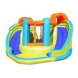 inflatable double water slide bounce house kids