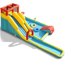 Inflatable Dual Slide Water Park 7-in-1 Bounce House Splash
