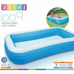 Inflatable Family Swimming Pool 10' Deluxe Kid Outdoor Swim