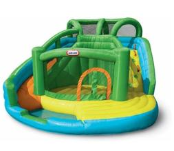 Inflatable Fun Water Park With Climber Slide And Mini Pool &
