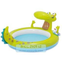 Intex Inflatable Gator Spray Splash Kids Pool Outdoor Swimmi