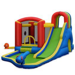Inflatable Kid Bounce House Slide Climbing Water Splash Park
