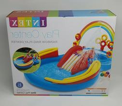 INTEX Inflatable Kid Rainbow Ring Water Play Center - Brand