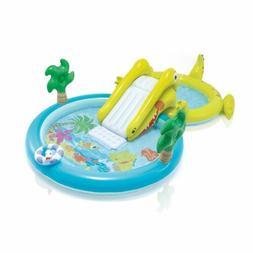 "Intex Inflatable Kids Slide Pool 10ft 7"" x 5ft 9"" x 2ft 5"" G"
