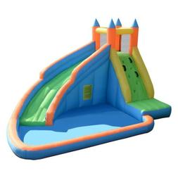 Inflatable Mighty Bounce House Jumper with Water Slide Outdo