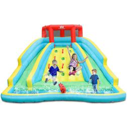 Inflatable Mighty Water Slide Park Bouncy Splash Pool w/ Two