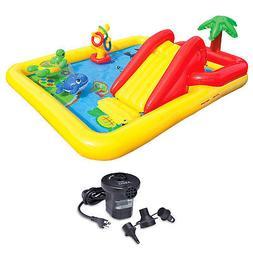 Intex Inflatable Ocean Play Kids Kiddie Pool & AC Electric A