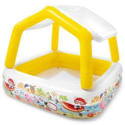 Intex Inflatable Ocean Scene Sun Shade Kids Swimming Pool Wi