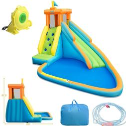 inflatable water slide outdoor kids safety park