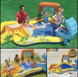 Inflatable Pool Slide Dinosaur Land Play Center Intex Kids T