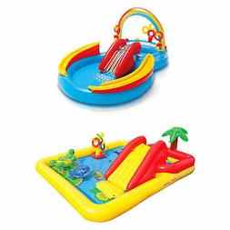 Intex Inflatable Pool Water Play Rainbow Ring Center Slide G