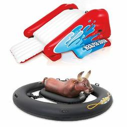 inflatable pool water slide red and inflatabull