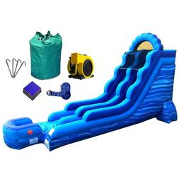 Inflatable Slide 18' Blue Marble Commercial Wet Dry Bouncy J