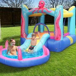 Safety Water Slide Pool Inflatable Bounce House Kids Jumping