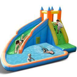 Costzon Inflatable Slide Bouncer, Water Pool Slide Climber C