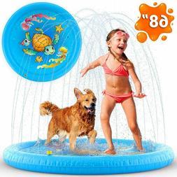 Inflatable Splash Pad Sprinkler for Toddlers Kids, kiddie ba