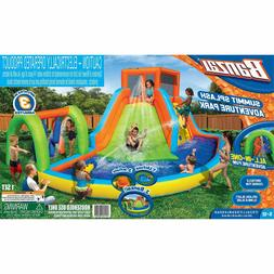 Banzai Inflatable Summit Splash Adventure Kiddie Pool Slide