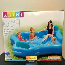 "Intex Inflatable Swim Center Family Lounge Pool 2-Seat 105"""