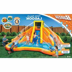 Banzai inflatable Twin Falls Lagoon Racing Water Pool/ Slide
