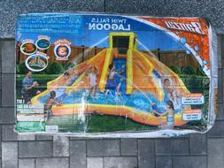 Banzai inflatable Twin Falls Lagoon Racing Water Pool Slide