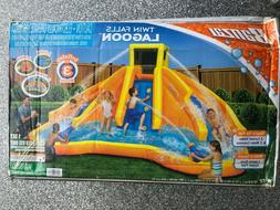 inflatable twin falls lagoon racing water pool