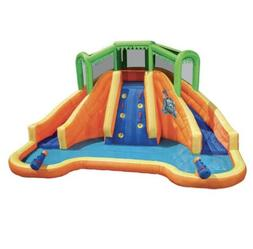 Banzai inflatable Twin Falls Lagoon Water Racing Pool/ Slide