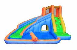 Inflatable Water Slide Pool Bouncy Waterslide for Kids Backy