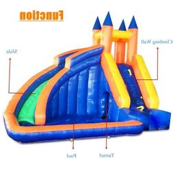 Inflatable Water Park Castle Children's Slide Pool Tunnel w/