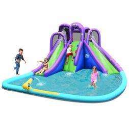 Inflatable Water Park Octopus Bounce House 2 Slides Climbing