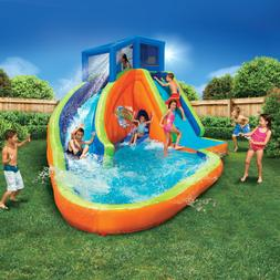 inflatable water park play pool with slides