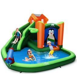 Inflatable Water Park Slide Bouncer w/ Climbing Wall Splash