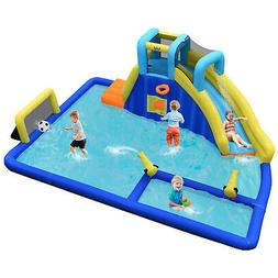 Bountech Inflatable Water Slide Bounce House  Splash Pool Cl