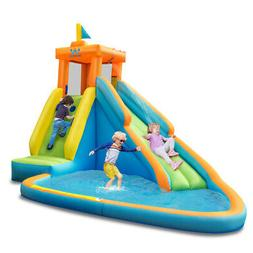 Inflatable Water Slide Kids Bounce House Castle Splash Water