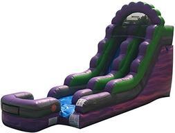 TentandTable 15-Foot Purple Marble Inflatable Water Slide, W