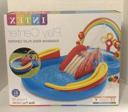 Inflatable Water Slide Play Center Rainbow Ring Intex Mini W