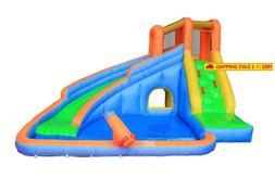 Inflatable Water Slide Pool Bouncy Waterslide for Kids Backy