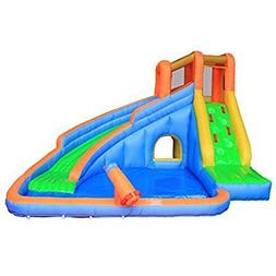 RETRO JUMP Inflatable Slide Bouncer, Water Pool Slide Climbe