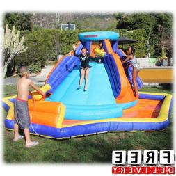 Inflatable Water Slide Splash Kid Park Blower Commercial Bac