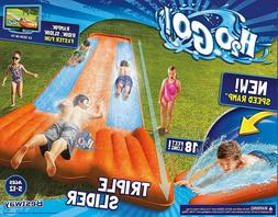 Inflatable Water Slide Triple Lane Splash Kids Backyard Park